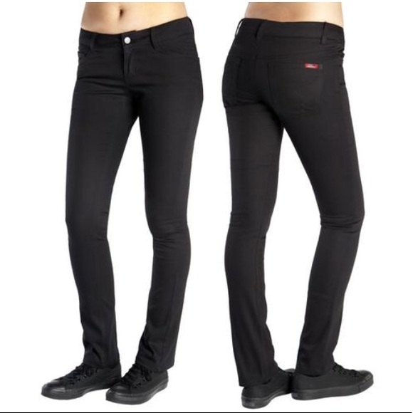 Dickies Pants - •  Dickies  Women s Black Skinny Fit Pants • b94887bd6b